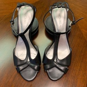 Nickels Soft Strappy Wedge Sandals Black  Size 7M